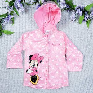 Disney Minnie Mouse toddler girl pink raincoat